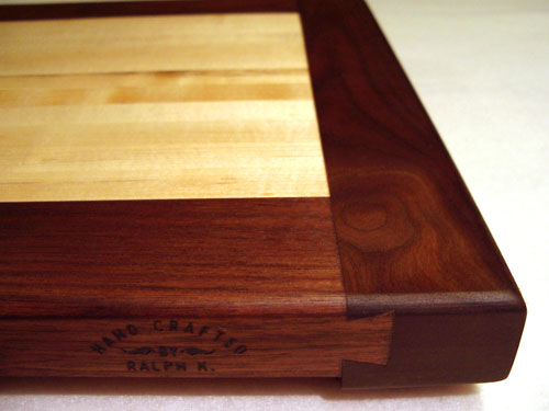 Canadian Rock Maple & Legged Walnut Serving Tray