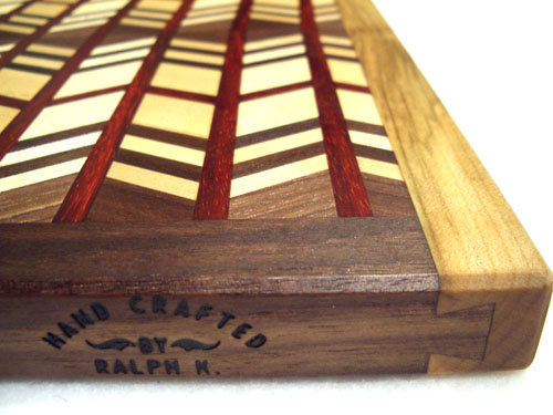 Herringbone Canadian Rock Maple, Walnut & Padauk